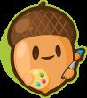Acorn-with-paintbrush